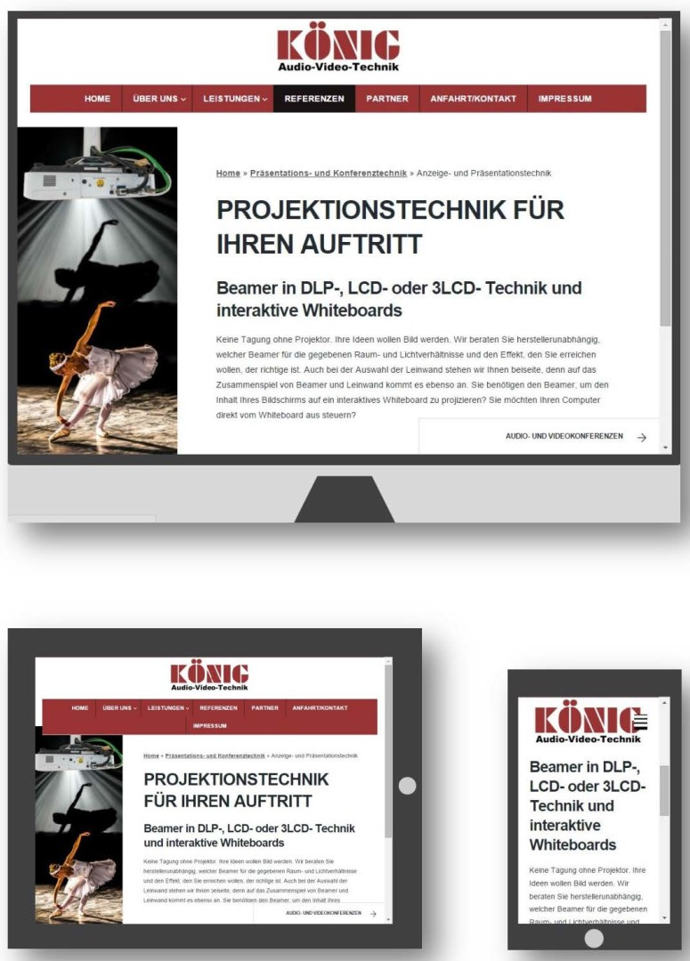 Webdesign für ein Kölner Audio-Video-Technik Systemhaus